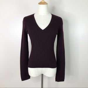 Vince l Pullover Sweater V-Neck 100% Cashmere S